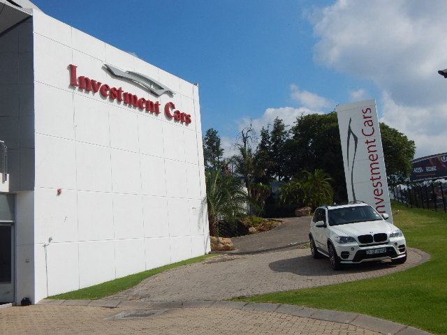 Investment cars building front view